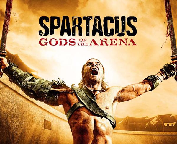 Affiche Spartacus les dieux de l'arène